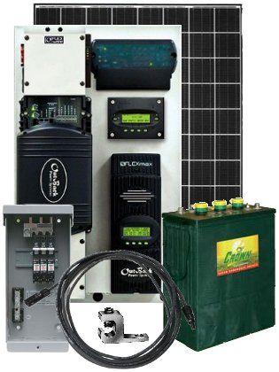 1 890 watt off grid solar power system with 2 500 watt 24. Black Bedroom Furniture Sets. Home Design Ideas