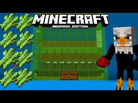 How To Make Simple Zero Tick Sugar Cane Farm Minecraft Bedrock Youtube Bedrock Minecraft Diy Minecraft