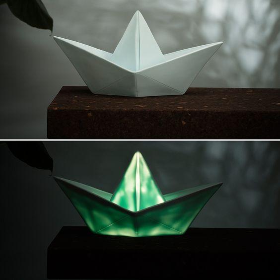 Goodnight Light Nachtlicht Paper Boat Lamp mint