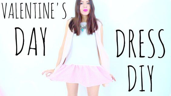 Make an EASY & AFFORDABLE cute dress with a T-Shirt for Valentine's Day!  Watch this video in ENGLISH: https://youtu.be/dzNlzyau35Y (Vea este video en ESPAÑOL: https://youtu.be/X7xgT0mm09M)