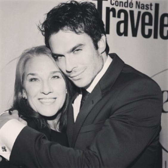 Awww Ian and his mom