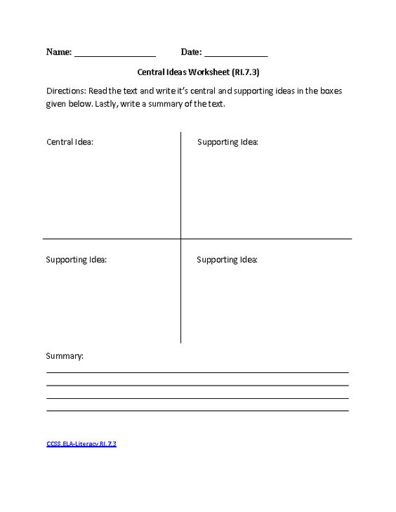 Common Core Worksheets 8th Grade English Worksheets 6th