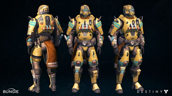 "Trials of Osiris Titan ""Exile"" Armor set by Ken Osuna on ArtStation."