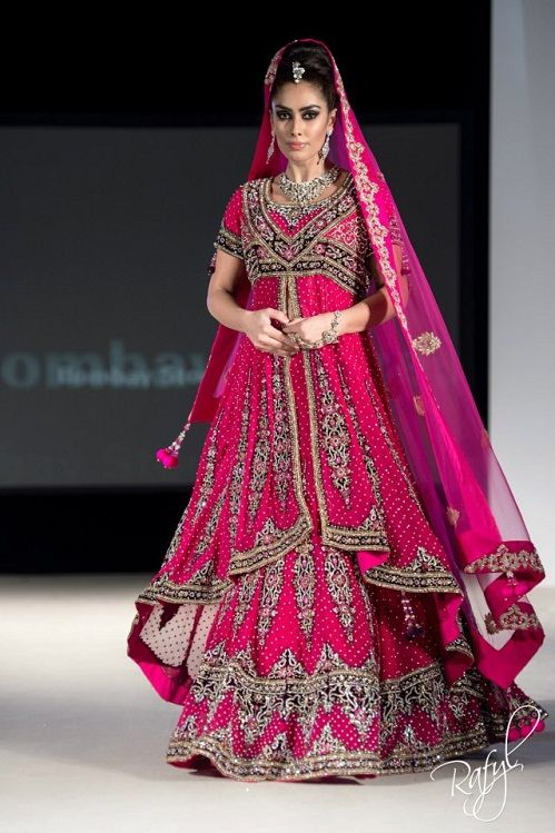 hot pink indian lacha: