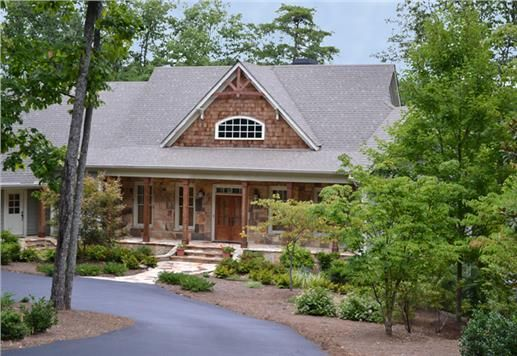 A one story four bedroom craftsman style mountain home for One story mountain house plans