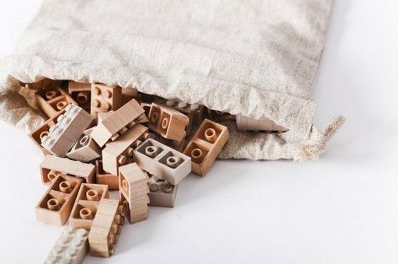 wooden Lego bricks from Mokurokku available at iichi Sotokoto http://www.iichi.com/listing/item/62572