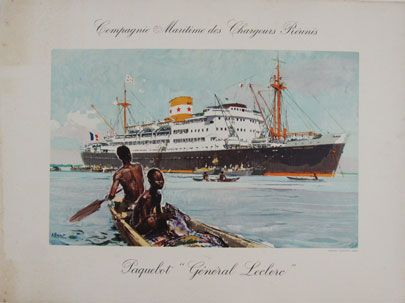 CMCR Paquebot General Leclerc Compagnie Maritime des Chargeurs Reunis original…