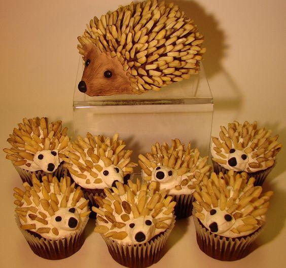 hedgehog cupcakes!!!