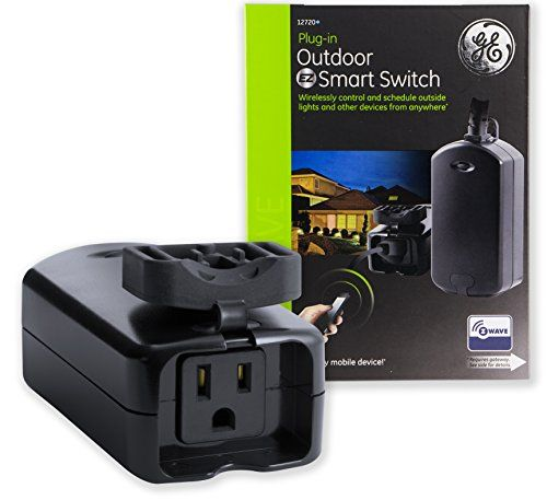 The Ge Z Wave Smart Lighting Control Outdoor Module Enables Wireless Control Of On Off Functions For Outdoor App Smart Lighting Works With Alexa Smart Switches