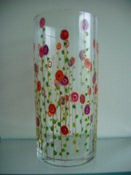 Peinture sur verre peinture sur verre pinterest blog - Peinture sur plateau en verre ...