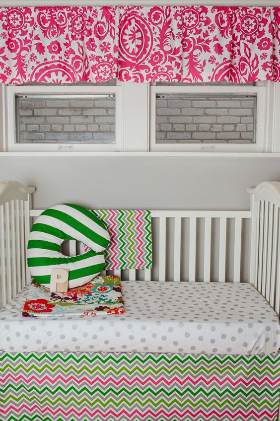 @DrawstringHome has created a one-of-a-kind crib skirt system that works with all heights of a crib and even toddler bed making your life easier and your decor more practical. #babygear #nursery