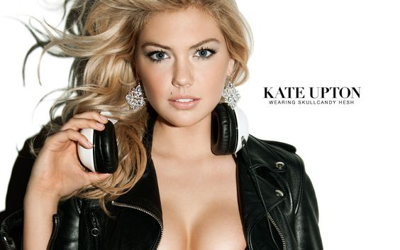 Kate Upton Using Skullcandy Hesh