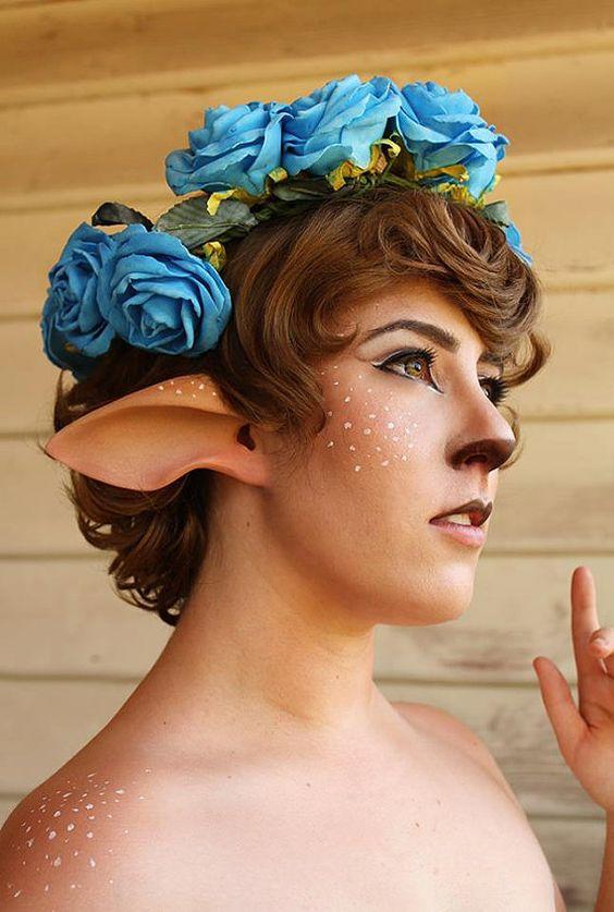 Handmade Faun Ears or Satyr Ears latex ear tips by AradaniStudios