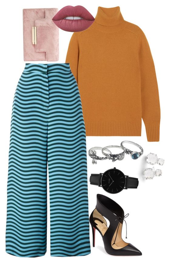 """""""blue"""" by morningstaryasmine ❤ liked on Polyvore featuring Ippolita, Chloé, Fendi, NOVICA, Christian Louboutin, CLUSE and Lime Crime"""