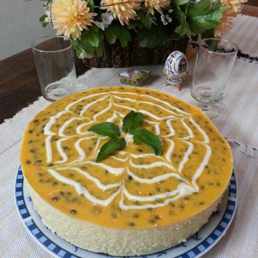 Torta mousse fruto de la pasión. La Mousse Pastelería.