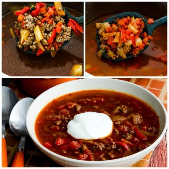 Instant Pot Low Carb Goulash Soup With Ground Beef And Peppers Found On Kalynskitchen Com Stuffed Peppers Soup With Ground Beef Low Carb Crock Pot Recipes