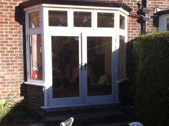 Solid Hardwood Bay Window/Double Door Set - Fully Painted From Cheshire Joinery Ltd