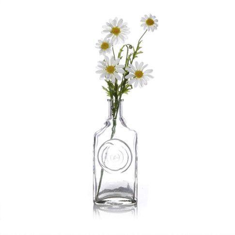 Flaschenvase, recycelte ukrainische Vodkaflasche, recyceltes Glas Vorderansicht