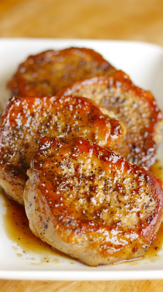 Apple Cider Pork Chops Recipe | Pillsbury - These tasty apple cider pork chops are a five-ingredient main course that'll be on your table in just 30 minutes.