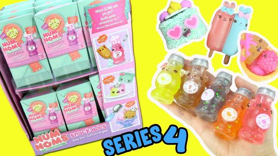 Num Noms Snackables Series 4 Full Box Opening Soda Slime Diy Crunch Kids Toys For Christmas Nom Noms Toys Slime Toy