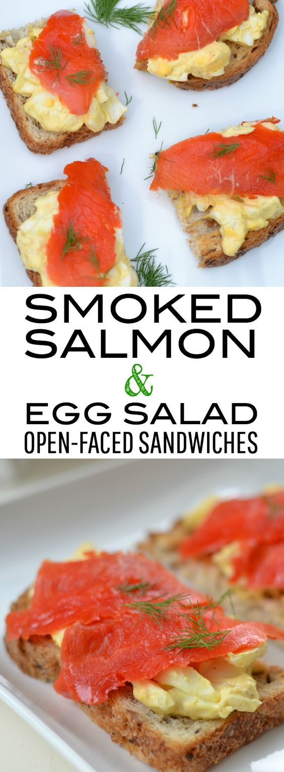 Smoked Salmon & Egg Salad Open-Faced Sandwiches: Perfect ...