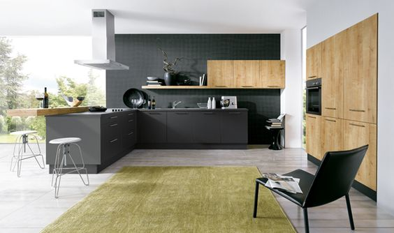 Schuller Bari kitchens provide contrasts of finish and colour to suit modern kitchen design. You can be truly creative with the potential combinations.