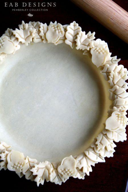 Baking pie today! eabdesigns.typepad.com #leafedgedpiecrust #piecrust #thanksgiving pie: