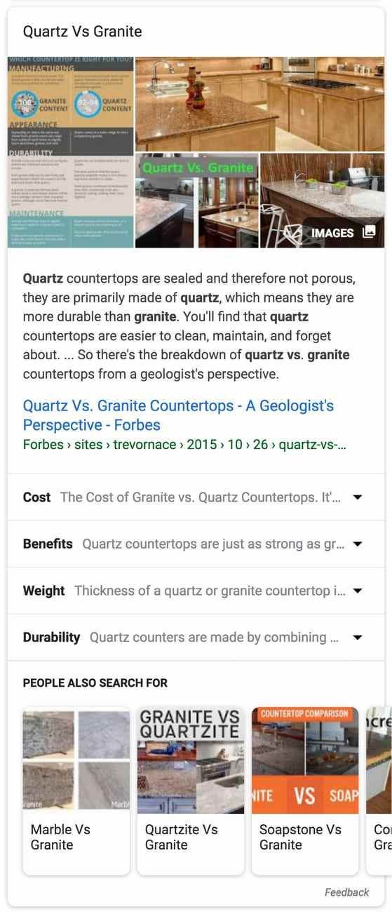 Google Rolls Out Featured Snippets For Comparison Searches