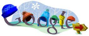 Google doodle   Primer día de invierno 2010