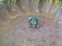 RENEE  Gorgeous Vintage rinestone cocktail ring with adjustable band!! A must have!!  $65