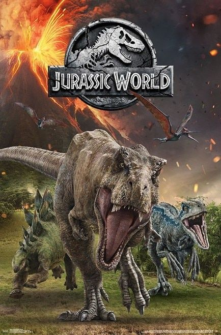 Jurassic World 2 Group Poster Print Item Vartiarp16692 Em