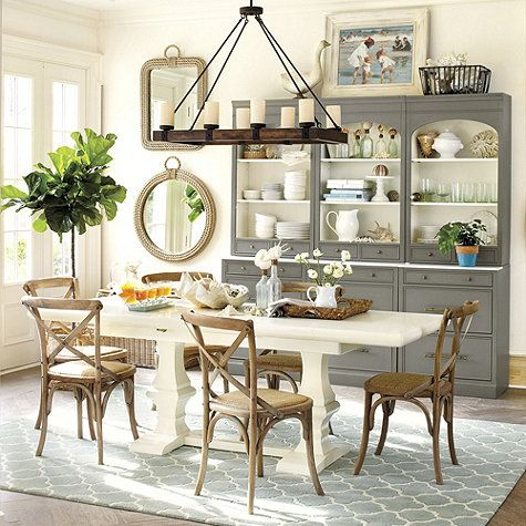 Rope mirror jute and dining rooms on pinterest for Casual dining room ideas pinterest