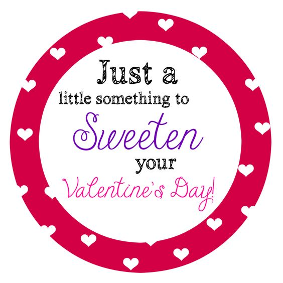 Great Valentine's Day label to add to something sweet for a lovely gift! Free printable!