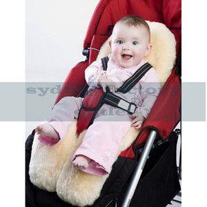 Medical Grade Australian Sheepskin Baby Pram Stroller Carseat Liner Cream   eBay