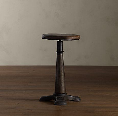French sewing stool, repurposed as a side table.