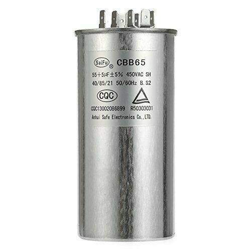 55 5 Mfd Uf Air Conditioner Capacitor Round Aluminum Electrolytic Dual Motor Run Bvpow Air Conditioner Capacitor Capacitor Conditioner