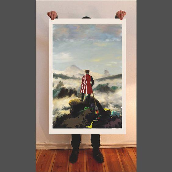 Giclee, Caspar David Friedrich, fine art print, painting, giclee, acrylic, watercolor, oil painting, contemporay art, Landscape painting