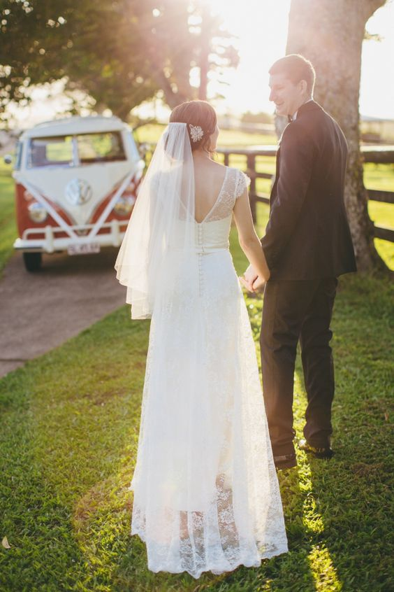 Chantilly lace gown by Bertossi Brides at Paddington Weddings