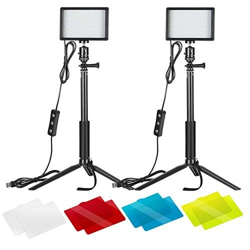 Neewer 2 Packs Dimmable 5600k Usb Led Video Light With Ad Https Www Dp B07t8fbzc2 Ref Cm Sw R Pi Dp U X L2ow Video Lighting Color Filter Tripod