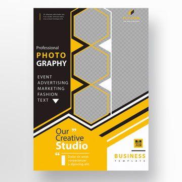 أصفر المضلعة مديرية الأمن العام فلاير Brochure Design Template Business Flyer Templates Flyer