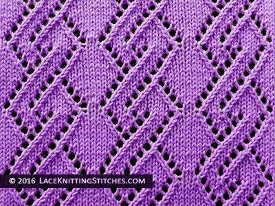 Diamond Lace Knitting Stitches : Lace Knitting. #30 Lace Diamond Chain Lace Knitting Stitches Pinterest ...