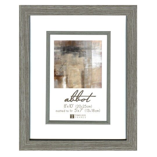 Timeless Frames Gray 5 X 7 Frame With Mat Abbot Collection Grey Picture Frames Frame Grey Pictures