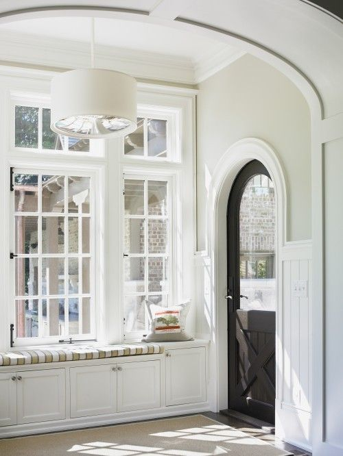 I love arched doorways and window seats