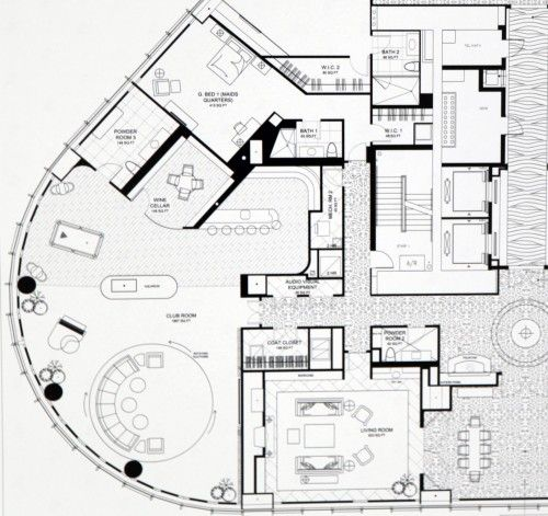 Let 39 s have a look at the floorplan for that trump penthouse chicago und penth user - Lay outs penthouse ...