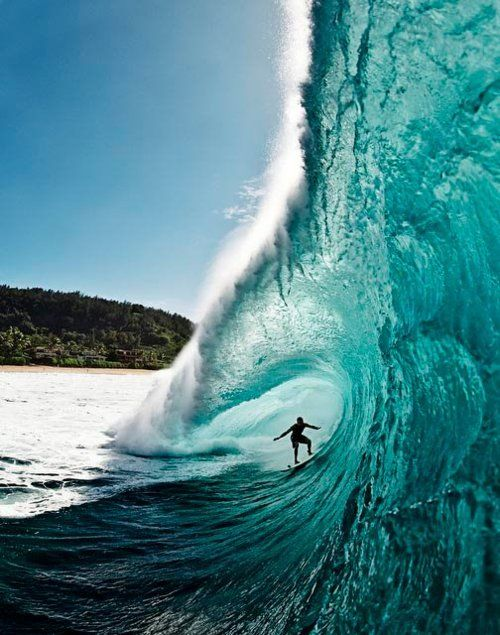 blue water, surfing