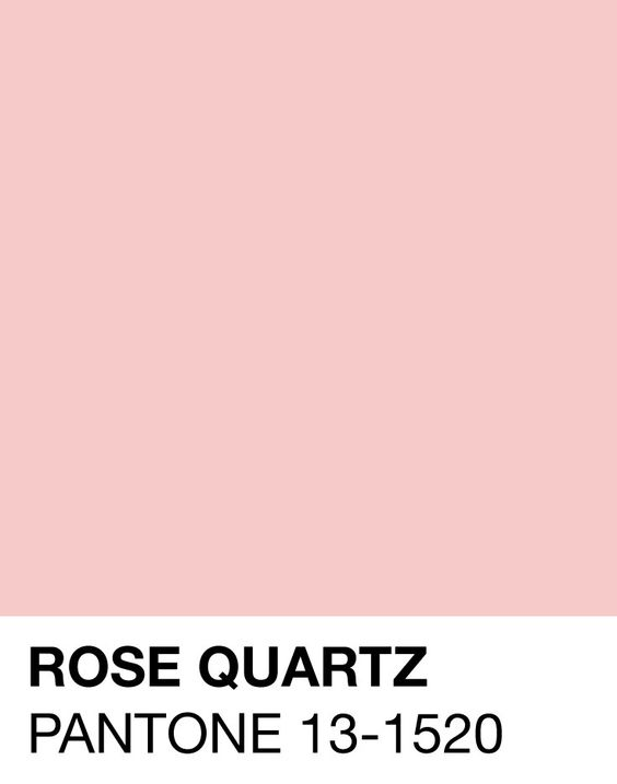 Rose Quartz, one of the 2 Pantones of The Year for 2016 (the other is Serenity, a powder blue). Let's pin it! Watch the tone <3: