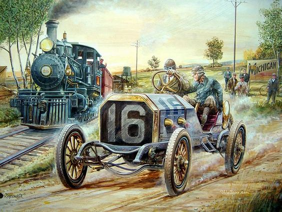 Vintage race car art