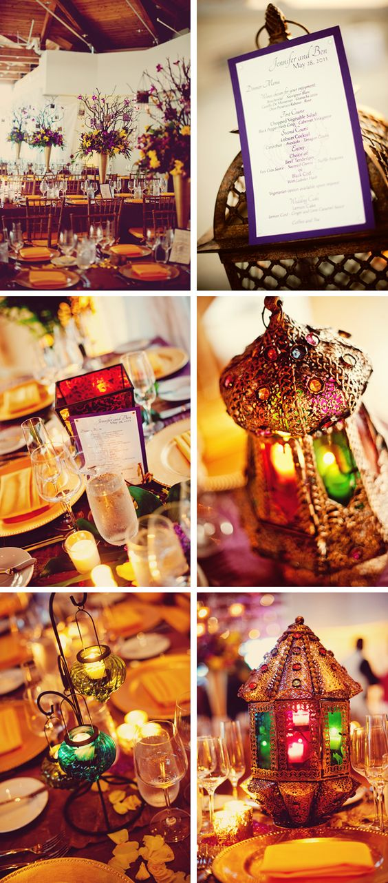 modern-moroccan-style-weddings [yellow and purple theme]: