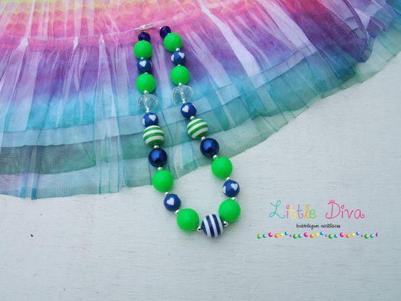 A Little Nautical Green & Blue Bubblegum by LittleDivaBubblegum, $22.00