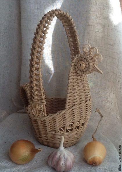 Плетение корзинки курочки